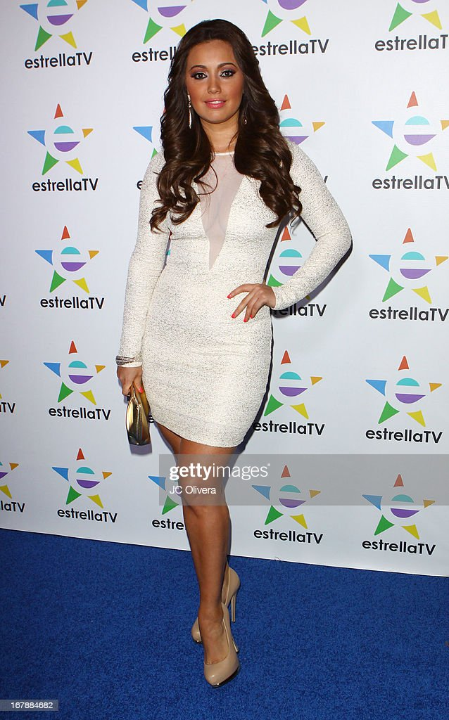 TV Personality Sandra Bonilla attends the launch party for Estrella TV news anchor: Myrka Dellanos at The Conga Room at L.A. Live on May 1, 2013 in Los Angeles, California.