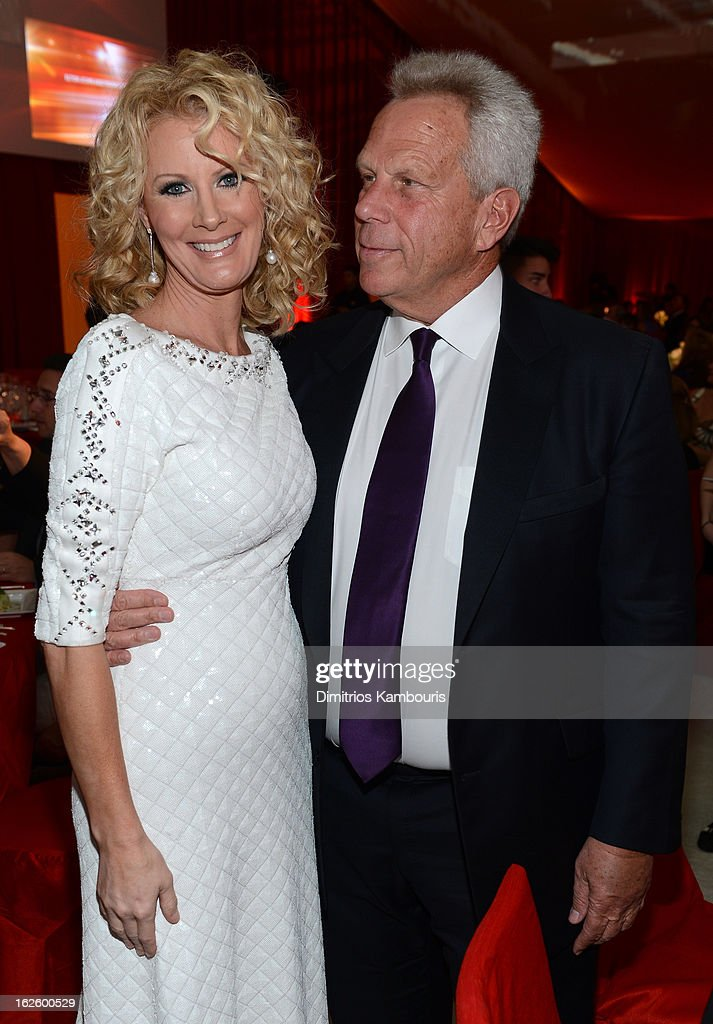 TV Personality Sandra Lee and Chairman and Executive Vice President of the New York Giants Steve Tisch attend the 21st Annual Elton John AIDS Foundation Academy Awards Viewing Party at West Hollywood Park on February 24, 2013 in West Hollywood, California.