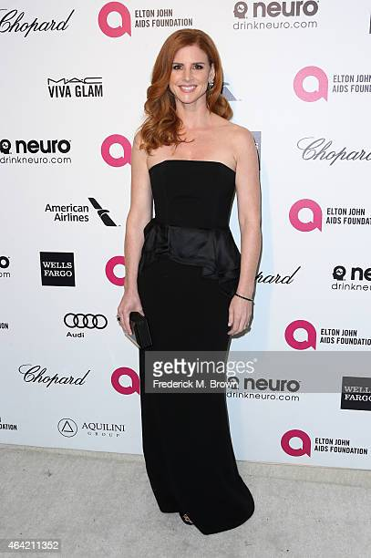 TV personality Sarah Rafferty attends the 23rd Annual Elton John AIDS Foundation's Oscar Viewing Party on February 22 2015 in West Hollywood...