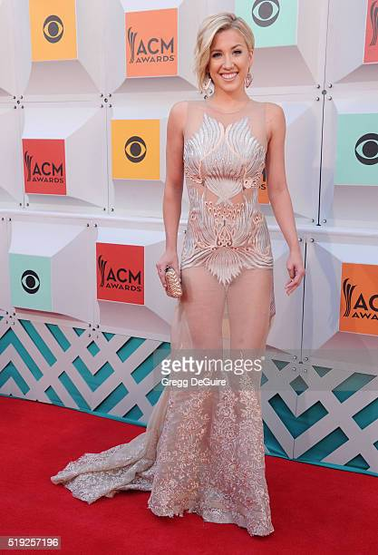 TV personality Savannah Chrisley arrives at the 51st Academy Of Country Music Awards at MGM Grand Garden Arena on April 3 2016 in Las Vegas Nevada