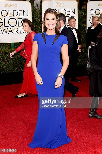 Personality Savannah Guthrie attends the 72nd Annual Golden Globe Awards at The Beverly Hilton Hotel on January 11 2015 in Beverly Hills California