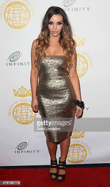 TV personality Scheana Marie attends the Queen of the Universe International Beauty Pageant at the Saban Theatre on March 16 2014 in Beverly Hills...