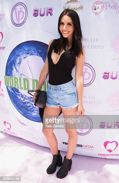 TV personality Scheana Marie attends World Dog Day Celebration at The City of West Hollywood Park on May 22 2016 in West Hollywood California