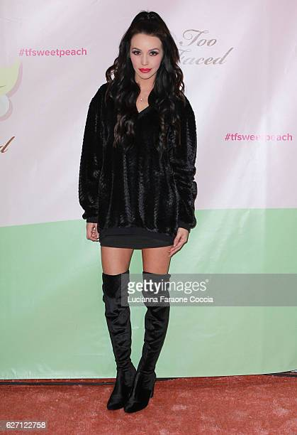 TV personality Scheana Shay attends Too Faced Cosmetics launch of their Sweet Peach Collection for spring 2017 at The Lot on December 1 2016 in West...