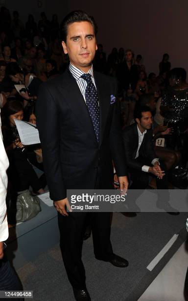 TV personality Scott Disick attends the Jill Stuart Spring 2012 fashion show during MercedesBenz Fashion Week at The Stage at Lincoln Center on...