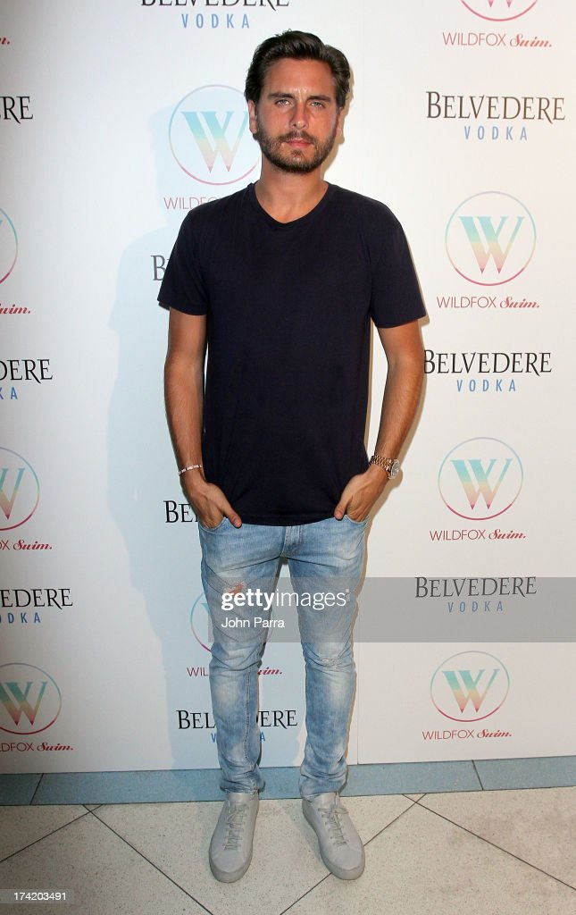 TV personality Scott Disick attends the Wildfox Swim Cruise 2014 show at Soho Beach House on July 21, 2013 in Miami Beach, Florida.