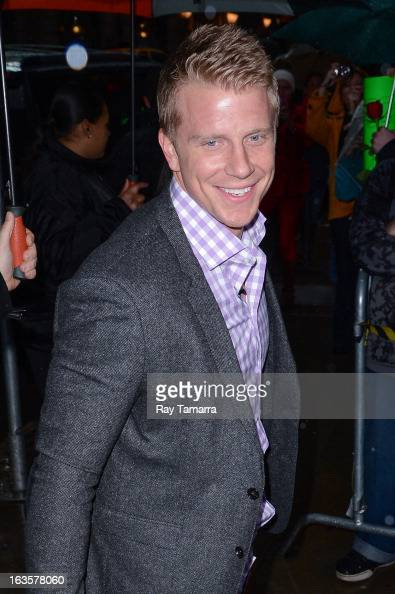 TV personality Sean Lowe enters the 'Good Morning America' taping at the ABC Times Square Studios on March 12 2013 in New York City