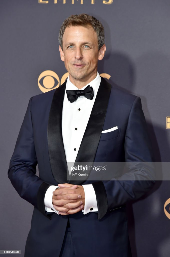 TV personality Seth Meyers attends the 69th Annual Primetime Emmy Awards at Microsoft Theater on September 17, 2017 in Los Angeles, California.