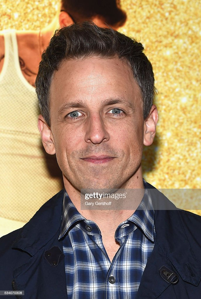 TV personality <a gi-track='captionPersonalityLinkClicked' href=/galleries/search?phrase=Seth+Meyers&family=editorial&specificpeople=618859 ng-click='$event.stopPropagation()'>Seth Meyers</a> attends the 'Popstar: Never Stop Never Stopping' New York premiere at AMC Loews Lincoln Square 13 theater on May 24, 2016 in New York City.