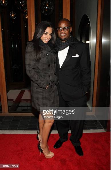 TV personality Sharon Carpenter and Andre Harrell attend Vikram Chatwal's 40th Birthday celebration at Romera at the Dream Downtown on October 28...