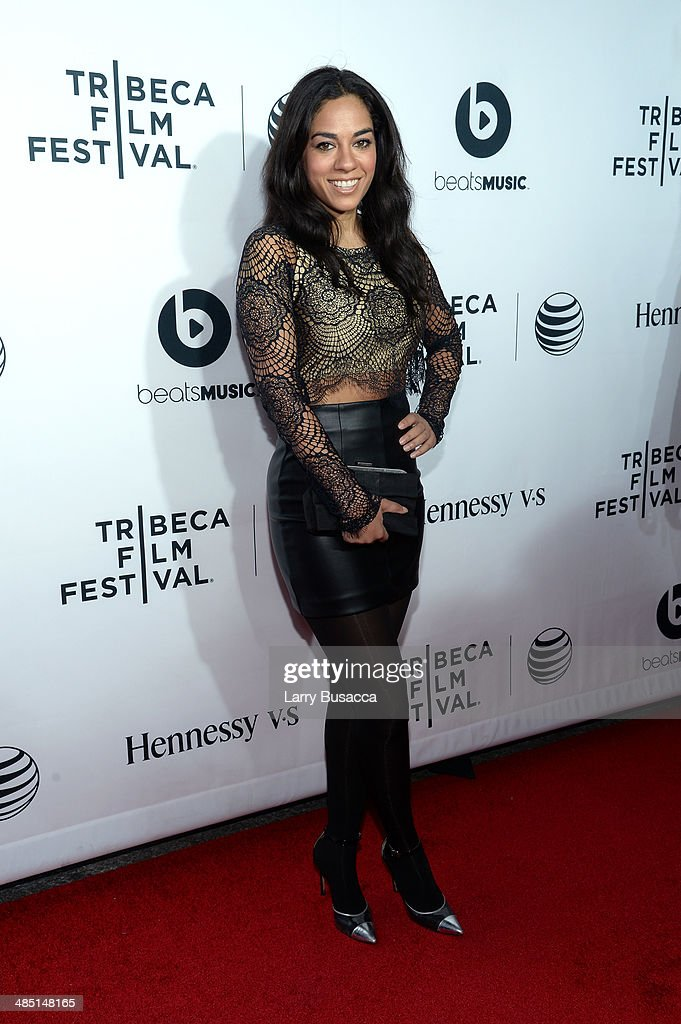 Personality Sharon Carpenter attends the 'Time Is Illmatic' Opening Night Premiere during the 2014 Tribeca Film Festival at The Beacon Theatre on...