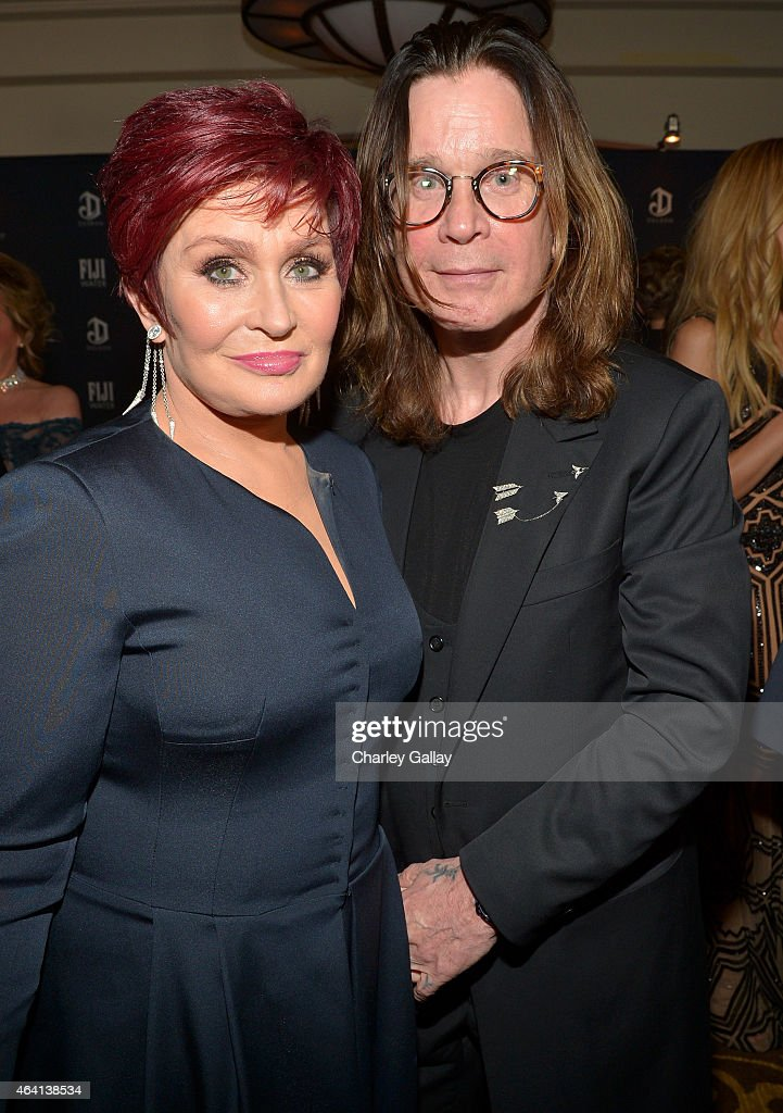 TV personality Sharon Osbourne (L) and recording artist Ozzy Osbourne attend The Weinstein Company's Academy Awards Nominees Dinner in partnership with Chopard, DeLeon Tequila, FIJI Water and MAC Cosmetics on February 21, 2015 in Los Angeles, California.