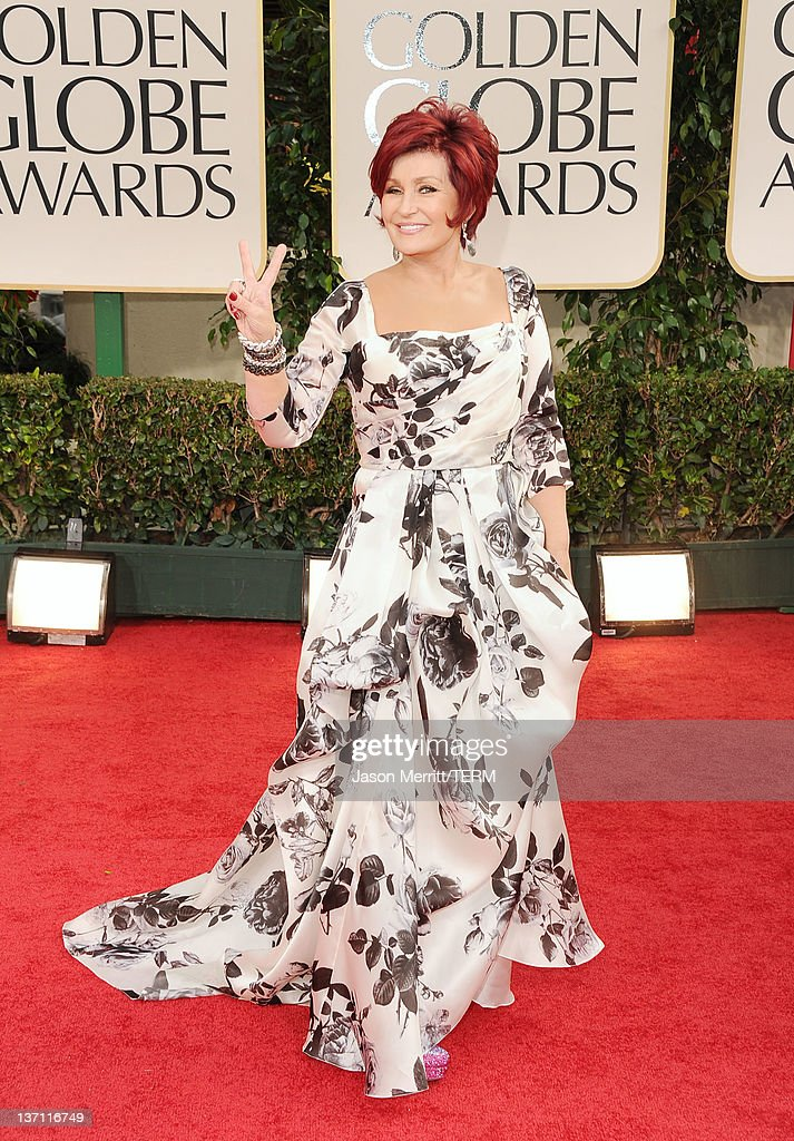TV personality Sharon Osbourne arrives at the 69th Annual Golden Globe Awards held at the Beverly Hilton Hotel on January 15, 2012 in Beverly Hills, California.