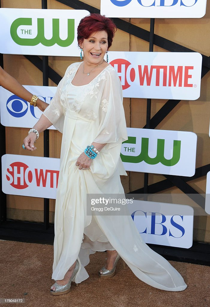 TV personality Sharon Osbourne arrives at the CBS/CW/Showtime Television Critic Association's summer press tour party at 9900 Wilshire Blvd on July 29, 2013 in Beverly Hills, California.