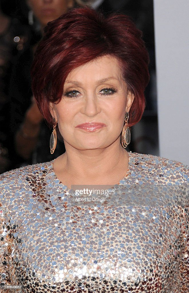 Personality Sharon Osbourne arrives for the 2012 People's Choice Awards held at Nokia Theatre L.A. Live on January 11, 2012 in Los Angeles, California.