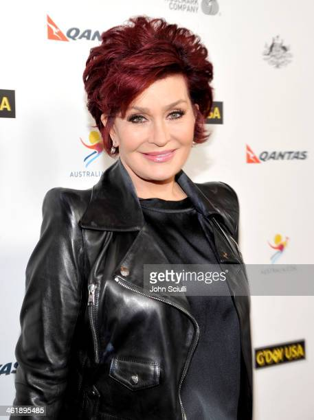 TV personality Sharon Osbourne attends the G'Day USA Los Angeles Black Tie Gala at JW Marriott Hotel at LA LIVE on January 11 2014 in Los Angeles...