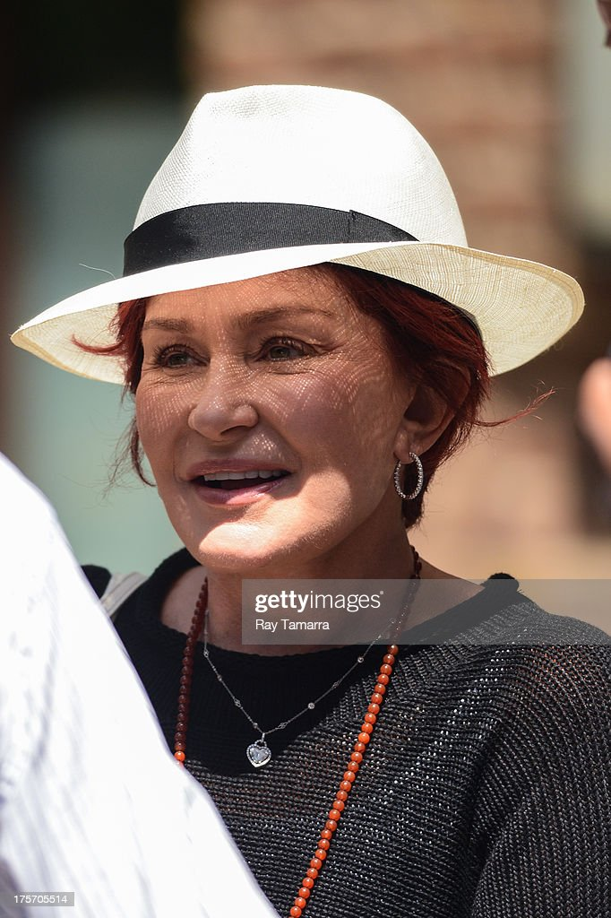 TV personality <a gi-track='captionPersonalityLinkClicked' href=/galleries/search?phrase=Sharon+Osbourne&family=editorial&specificpeople=203094 ng-click='$event.stopPropagation()'>Sharon Osbourne</a> leaves her Tribeca hotel on August 6, 2013 in New York City.