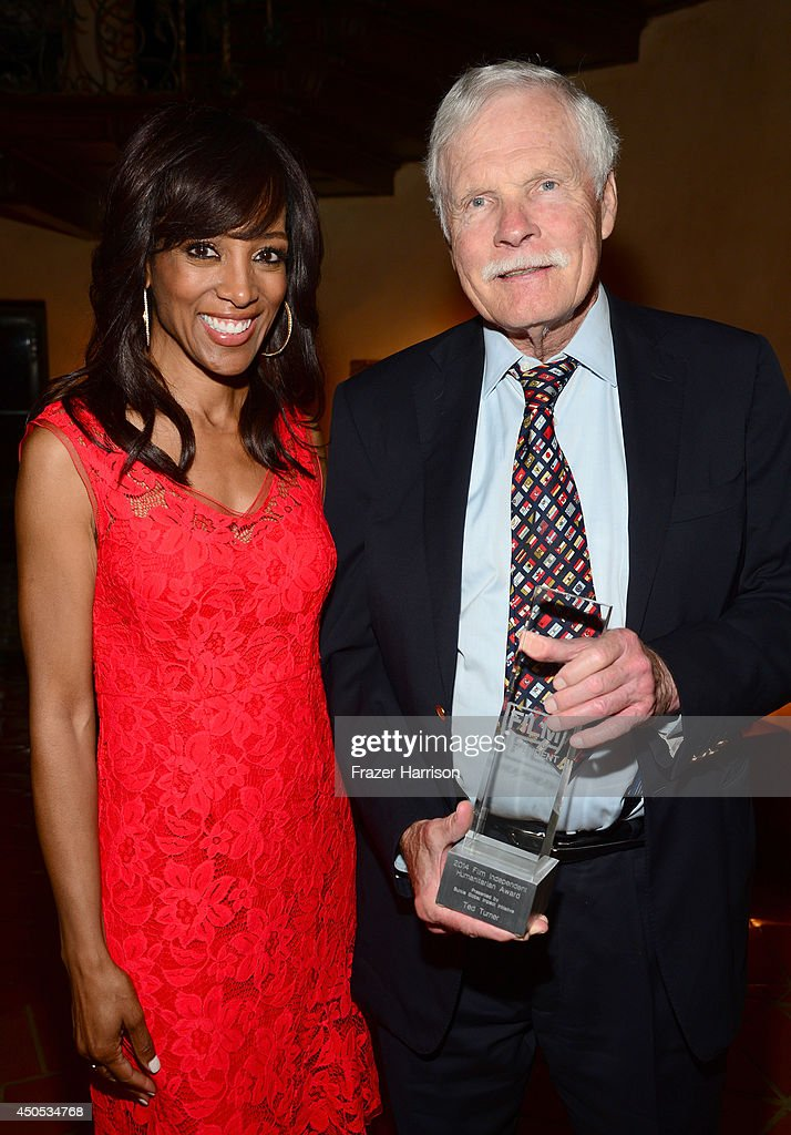 TV personality <a gi-track='captionPersonalityLinkClicked' href=/galleries/search?phrase=Shaun+Robinson&family=editorial&specificpeople=209263 ng-click='$event.stopPropagation()'>Shaun Robinson</a> and honoree <a gi-track='captionPersonalityLinkClicked' href=/galleries/search?phrase=Ted+Turner+-+Businessman&family=editorial&specificpeople=203000 ng-click='$event.stopPropagation()'>Ted Turner</a> attend the Film Independent Humanitarian Award tribute to <a gi-track='captionPersonalityLinkClicked' href=/galleries/search?phrase=Ted+Turner+-+Businessman&family=editorial&specificpeople=203000 ng-click='$event.stopPropagation()'>Ted Turner</a> in partnership with UCLA Burkle Global Impact Initiative on June 12, 2014 at the home of Ron Burkle in Beverly Hills, California.