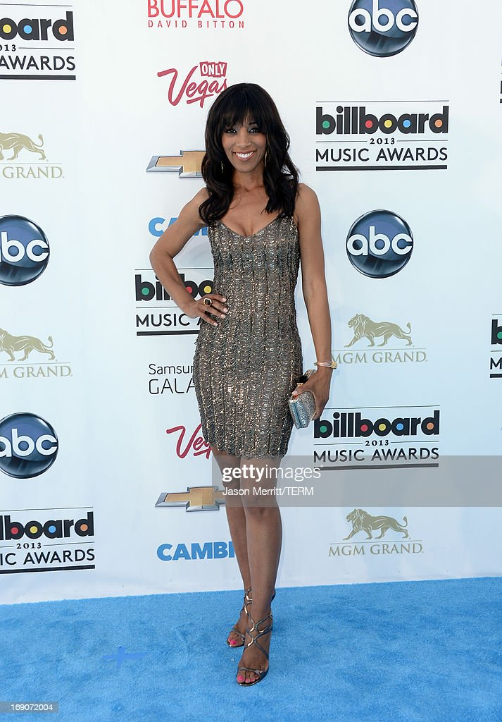 TV personality Shaun Robinson arrives at the 2013 Billboard Music Awards at the MGM Grand Garden Arena on May 19 2013 in Las Vegas Nevada