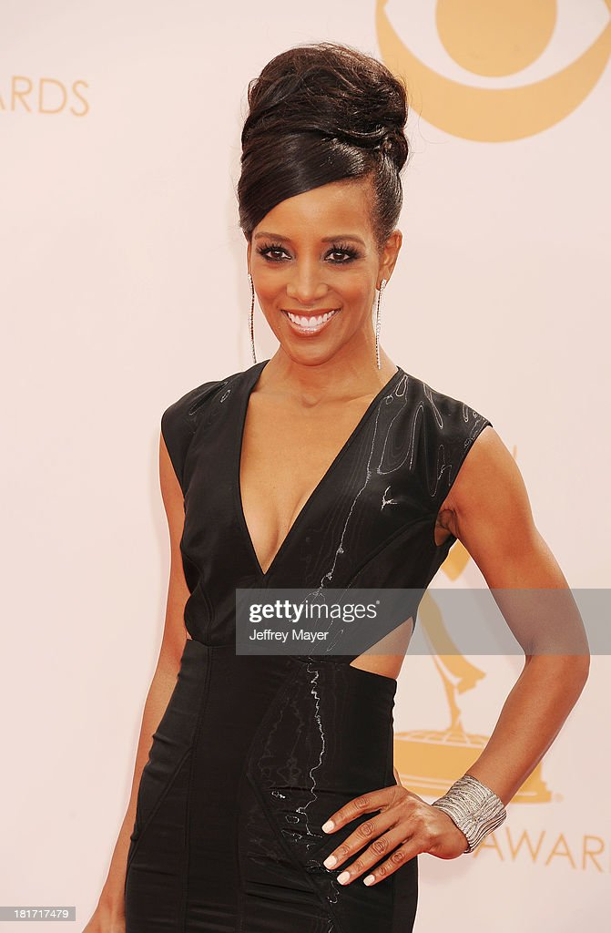 TV personality Shaun Robinson arrives at the 65th Annual Primetime Emmy Awards at Nokia Theatre L.A. Live on September 22, 2013 in Los Angeles, California.