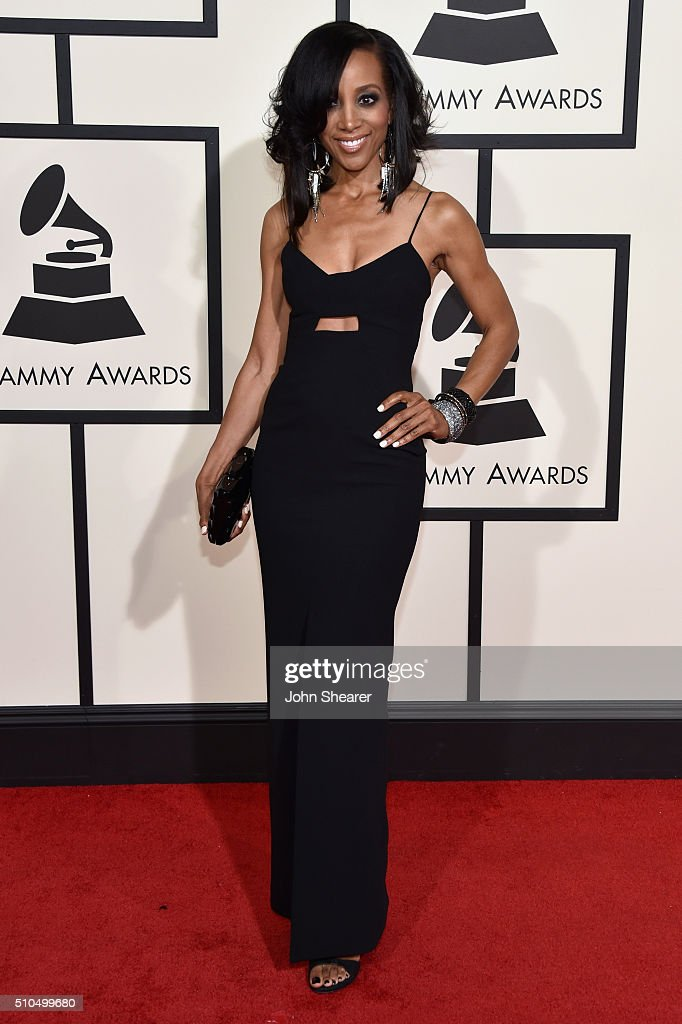 TV personality <a gi-track='captionPersonalityLinkClicked' href=/galleries/search?phrase=Shaun+Robinson&family=editorial&specificpeople=209263 ng-click='$event.stopPropagation()'>Shaun Robinson</a> attends The 58th GRAMMY Awards at Staples Center on February 15, 2016 in Los Angeles, California.