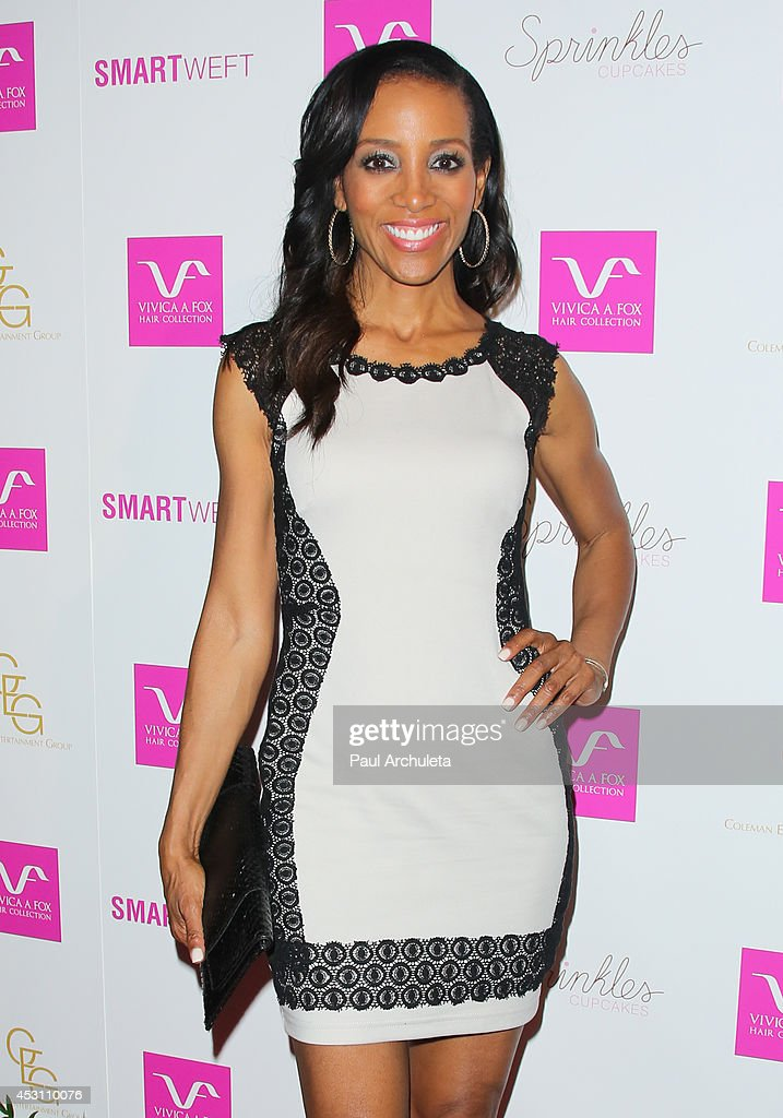 TV Personality Shaun Robinson attends Vivica A. Fox's 50th birthday celebration at Philippe Chow on August 2, 2014 in Beverly Hills, California.