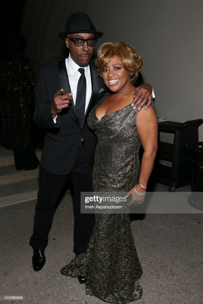 TV personality <a gi-track='captionPersonalityLinkClicked' href=/galleries/search?phrase=Sherri+Shepherd&family=editorial&specificpeople=693379 ng-click='$event.stopPropagation()'>Sherri Shepherd</a> (R) and comedian <a gi-track='captionPersonalityLinkClicked' href=/galleries/search?phrase=Arsenio+Hall&family=editorial&specificpeople=211441 ng-click='$event.stopPropagation()'>Arsenio Hall</a> attend the 45th NAACP Image Awards presented by TV One at Pasadena Civic Auditorium on February 22, 2014 in Pasadena, California.
