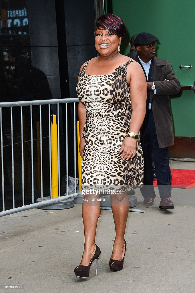 TV personality Sherri Shepherd leaves the 'Good Morning America' taping at the ABC Times Square Studios on April 30, 2013 in New York City.