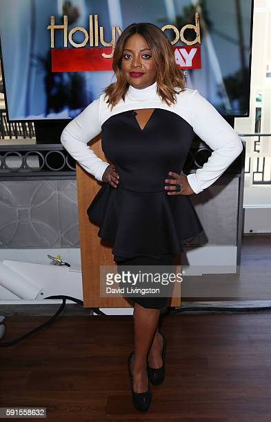 TV personality Sherri Shepherd poses at Hollywood Today Live at W Hollywood on August 17 2016 in Hollywood California
