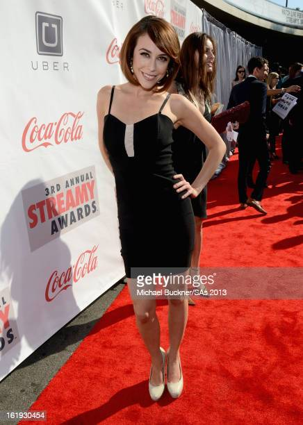 TV personality Shira Lazar attends the 3rd Annual Streamy Awards at Hollywood Palladium on February 17 2013 in Hollywood California