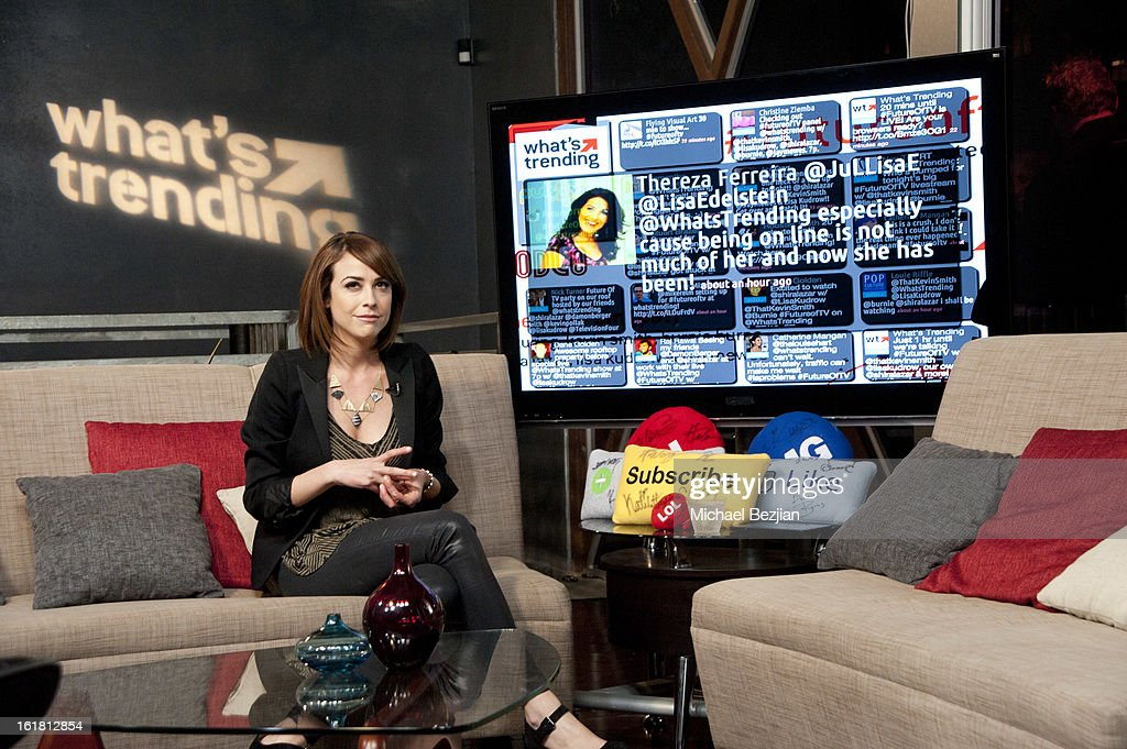 TV personality <a gi-track='captionPersonalityLinkClicked' href=/galleries/search?phrase=Shira+Lazar&family=editorial&specificpeople=4120980 ng-click='$event.stopPropagation()'>Shira Lazar</a> attends The Future Of Online Television at What's Trending Studios on February 15, 2013 in Los Angeles, California.