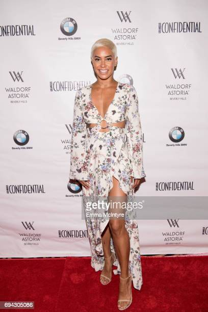 TV personality Sibley Scoles attends 'Los Angeles Confidential Women of Influence tea hosted by Neve Campbell' at Waldorf Astoria Beverly Hills on...