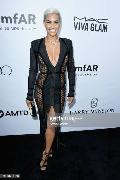 TV personality Sibley Scoles attends the amfAR Gala 2017 at Ron Burkle's Green Acres Estate on October 13 2017 in Beverly Hills California