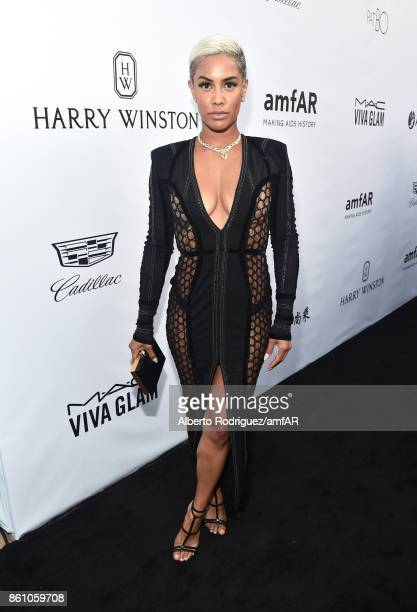 TV personality Sibley Scoles attends the amfAR Gala Los Angeles 2017 at Ron Burkle's Green Acres Estate on October 13 2017 in Beverly Hills California