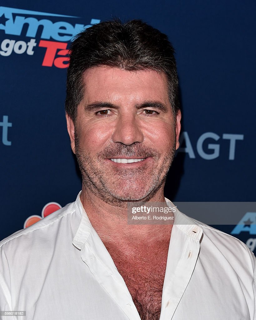 TV personality Simon Cowell attends the 'America's Got Talent' Season 11 Live Show at The Dolby Theatre on August 30 2016 in Hollywood California