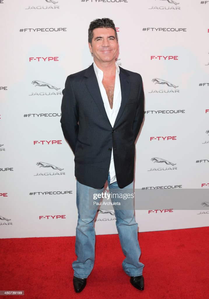 TV Personality <a gi-track='captionPersonalityLinkClicked' href=/galleries/search?phrase=Simon+Cowell&family=editorial&specificpeople=203007 ng-click='$event.stopPropagation()'>Simon Cowell</a> attends the launch party for the Jaguar F-TYPE Coupe at Raleigh Studios on November 19, 2013 in Playa Vista, California.
