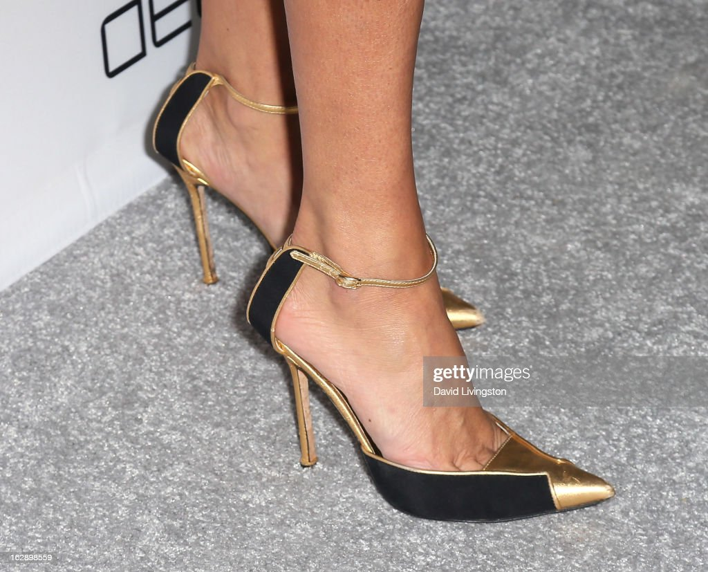 TV personality Sky Nellor (shoe detail) attends the Harper's BAZAAR celebration of Cameron Silver and Christos Garkinos of Decades new Bravo series 'Dukes of Melrose' at The Terrace at Sunset Tower on February 28, 2013 in West Hollywood, California.