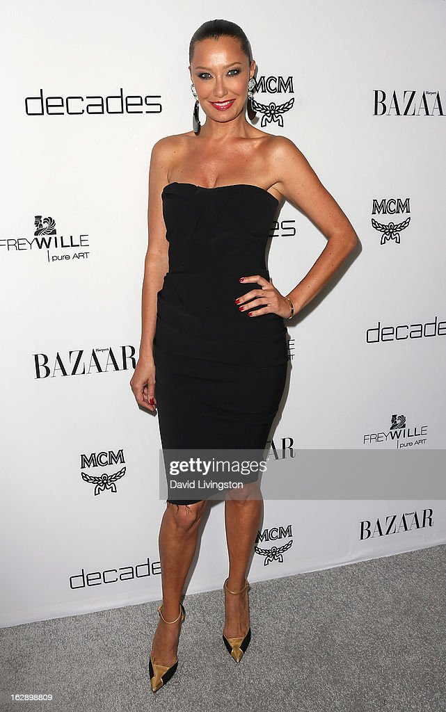 TV personality Sky Nellor attends the Harper's BAZAAR celebration of Cameron Silver and Christos Garkinos of Decades new Bravo series 'Dukes of Melrose' at The Terrace at Sunset Tower on February 28, 2013 in West Hollywood, California.