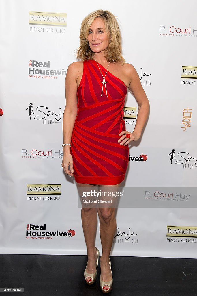 TV personality Sonja Morgan attends the 'The Real Housewives Of New York City' season six premiere party at Tokya on March 12, 2014 in New York City.