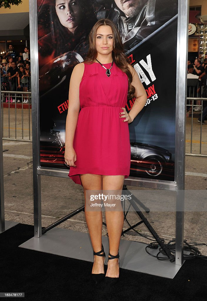 TV personality Sophie Simmons arrives at the 'Getaway' Los Angeles Premiere at Regency Village Theatre on August 26 2013 in Westwood California