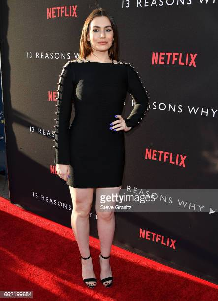 TV personality Sophie Simmons arrives at the Premiere Of Netflix's '13 Reasons Why' at Paramount Pictures on March 30 2017 in Los Angeles California