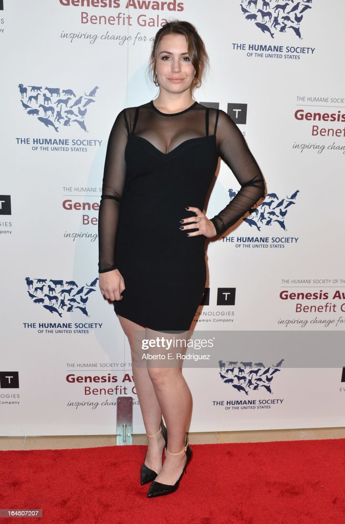 TV personality Sophie Simmons arrives to the 2013 Genesis Awards Benefit Gala at The Beverly Hilton Hotel on March 23, 2013 in Beverly Hills, California.