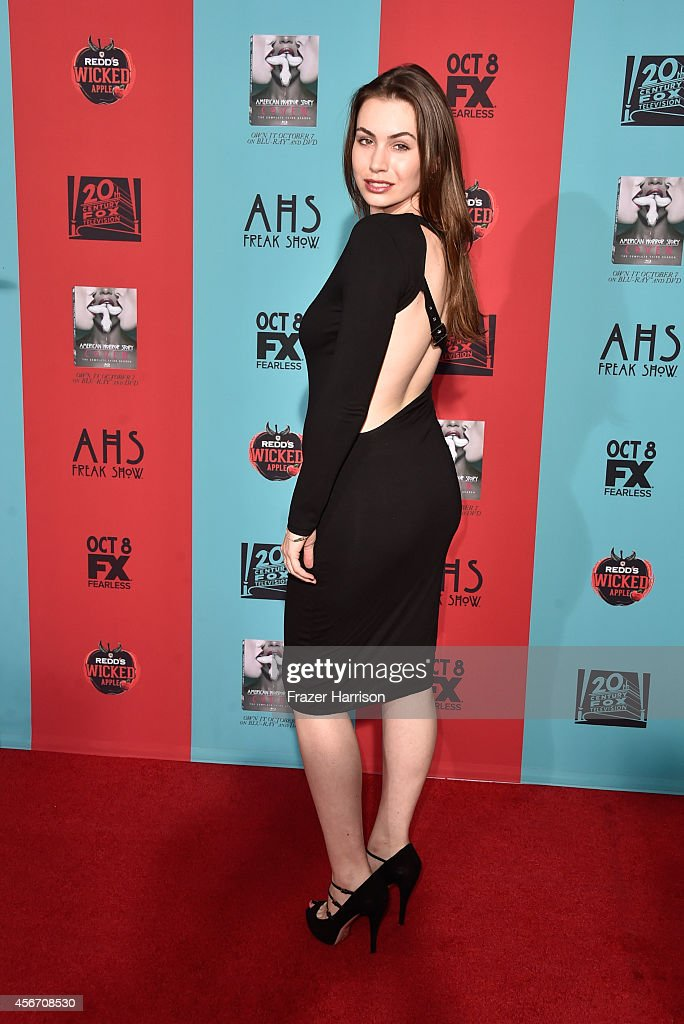 TV personality Sophie Simmons attends FX's 'American Horror Story Freak Show' premiere screening at TCL Chinese Theatre on October 5 2014 in...