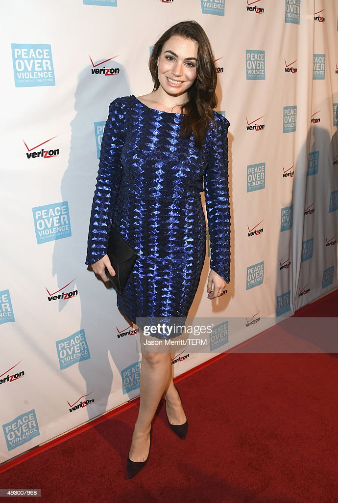 TV personality Sophie Simmons attends The 44th Annual Peace Over Violence Humanitarian Awards at Dorothy Chandler Pavilion on October 16 2015 in Los...