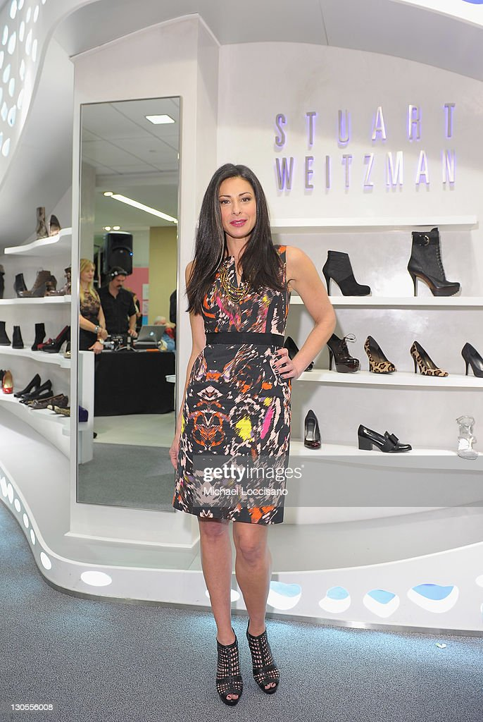TV personality Stacy London hosts the grand opening of the Stuart Weitzman Boutique at Bloomingdale's on October 26 2011 in New York City