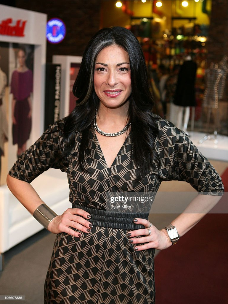 TV personality Stacy London of 'What Not to Wear' poses during the Westfield Style Tour at the Westfield Topanga Mall on November 6 2010 in Canoga...