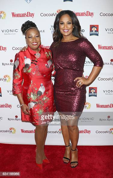 TV personality Star Jones and professional boxer Laila Ali attend the 14th annual Woman's Day Red Dress Awards at Jazz at Lincoln Center on February...