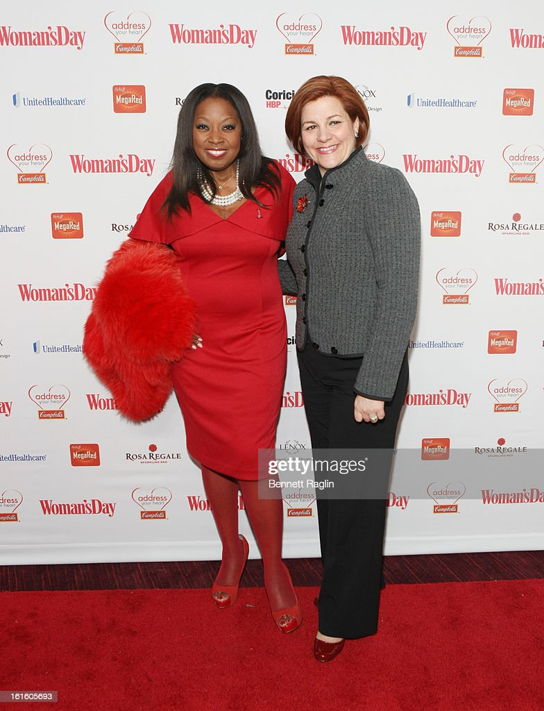 TV personality <a gi-track='captionPersonalityLinkClicked' href=/galleries/search?phrase=Star+Jones&family=editorial&specificpeople=202645 ng-click='$event.stopPropagation()'>Star Jones</a> and Speaker of New YOrk City Council <a gi-track='captionPersonalityLinkClicked' href=/galleries/search?phrase=Christine+Quinn&family=editorial&specificpeople=550180 ng-click='$event.stopPropagation()'>Christine Quinn</a> attend the 10th Annual Red Dress Awards at Jazz at Lincoln Center on February 12, 2013 in New York City.