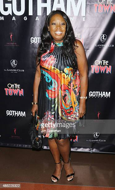 TV personality Star Jones attends Misty Copeland's debut performance in Broadway's 'On The Town' at the Lyric Theatre on August 25 2015 in New York...