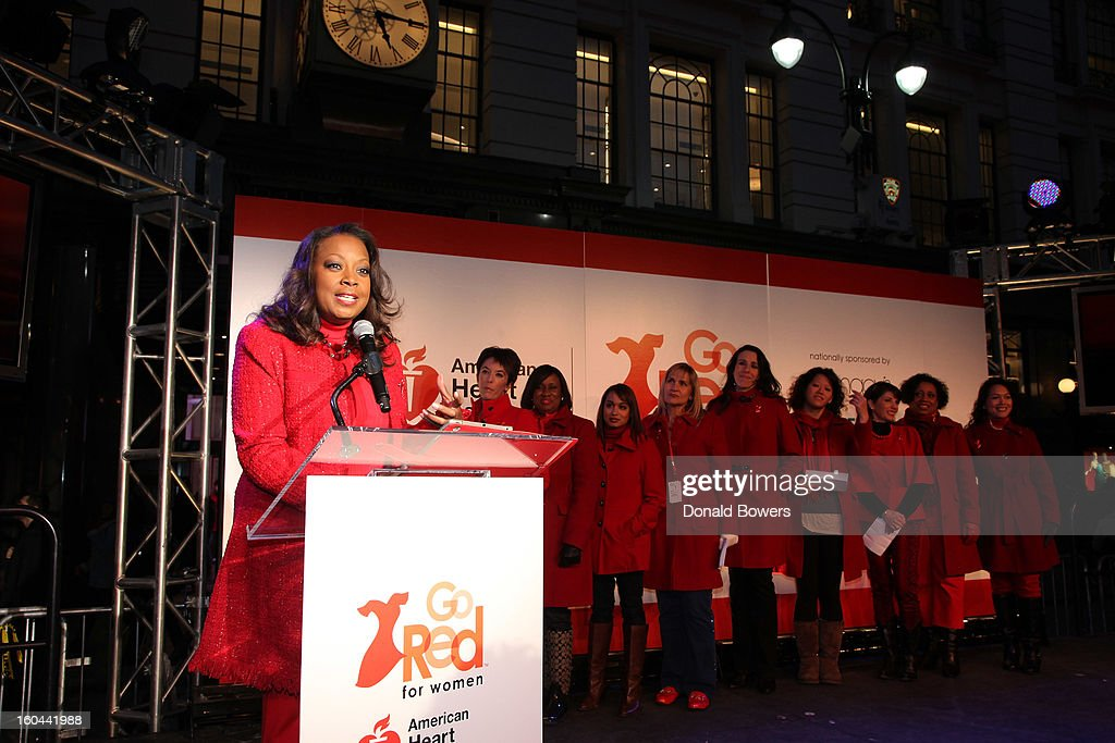 TV personality <a gi-track='captionPersonalityLinkClicked' href=/galleries/search?phrase=Star+Jones&family=editorial&specificpeople=202645 ng-click='$event.stopPropagation()'>Star Jones</a>, who is Heart Disease Survivor and American Heart Association National Volunteer, speaks at the event to celebrate the 10th National Wear Red Day with American Heart Association's Go Red For Women movement at Macy's Herald Square on January 31, 2013 in New York City.